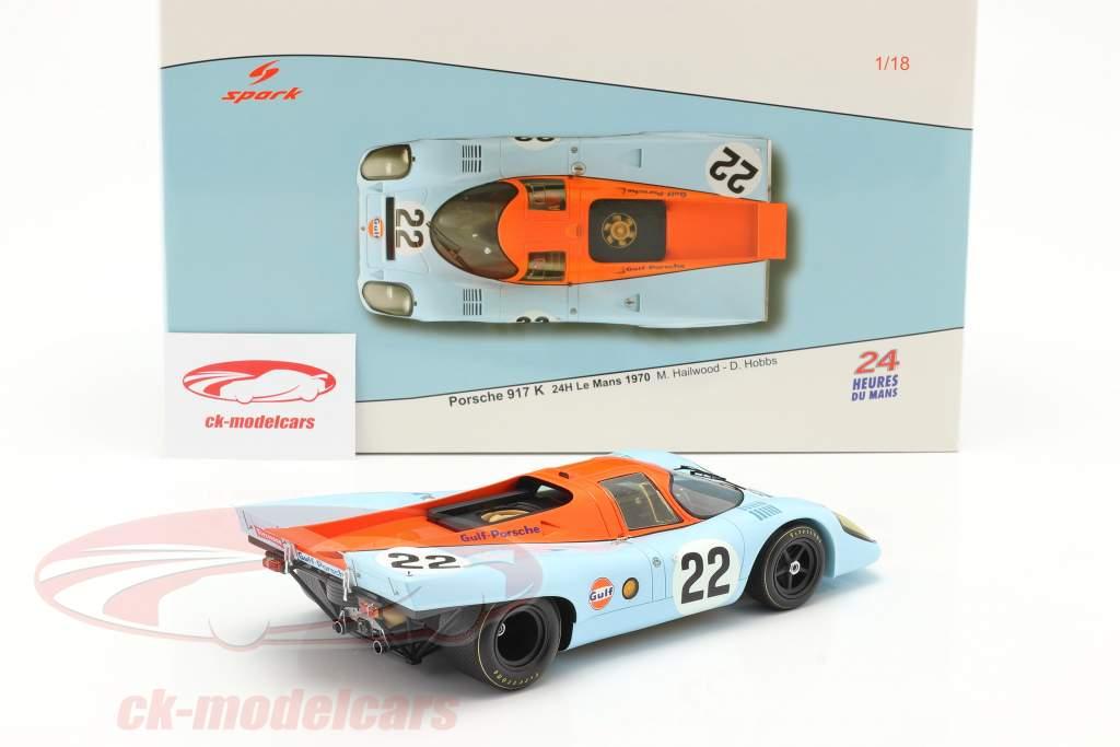 Porsche 917K Gulf #22 24h LeMans 1970 Hobbs, Hailwood 1:18 Spark