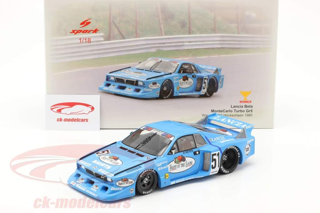 Lancia Beta Montecarlo Turbo #51 ganador DRM Hockenheim 1980 Heyer 1:18 Spark