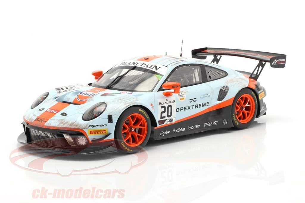 Porsche 911 GT3 R #20 Sieger 24h Spa 2019 Dirty Race Version 1:18 Spark