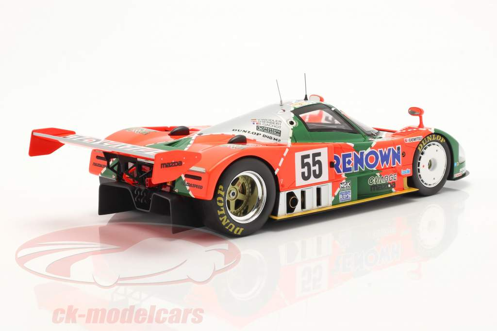 Mazda 787B #55 vinder 24h LeMans 1991 Weidler, Herbert, Gachot 1:18 Spark