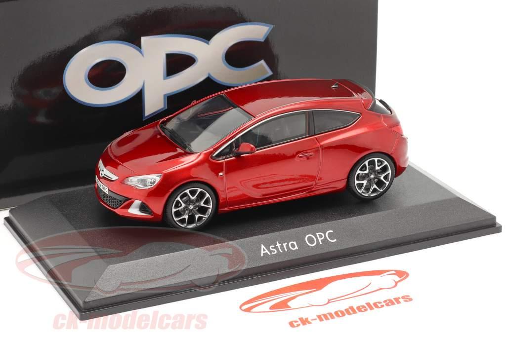 Opel Astra J OPC Byggeår 2012 rød metallisk 1:43 Motorart
