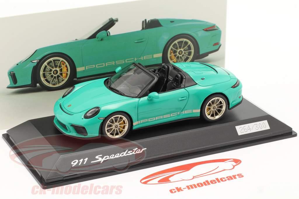 Porsche 911 (991 II) Speedster verde giada 1:43 Spark