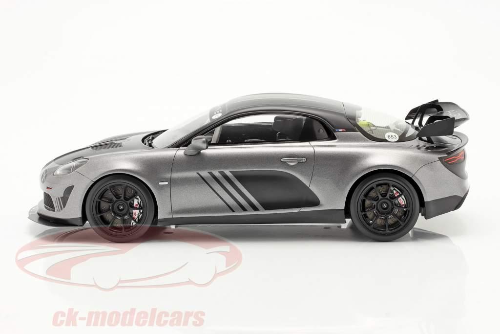 Alpine A110 GT4 Goodwood 2018 silber metallic / schwarz 1:18 Spark