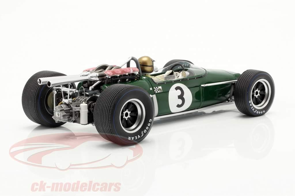 Jack Brabham Brabham BT24 #3 vinder fransk GP formel 1 1967 1:18 Spark
