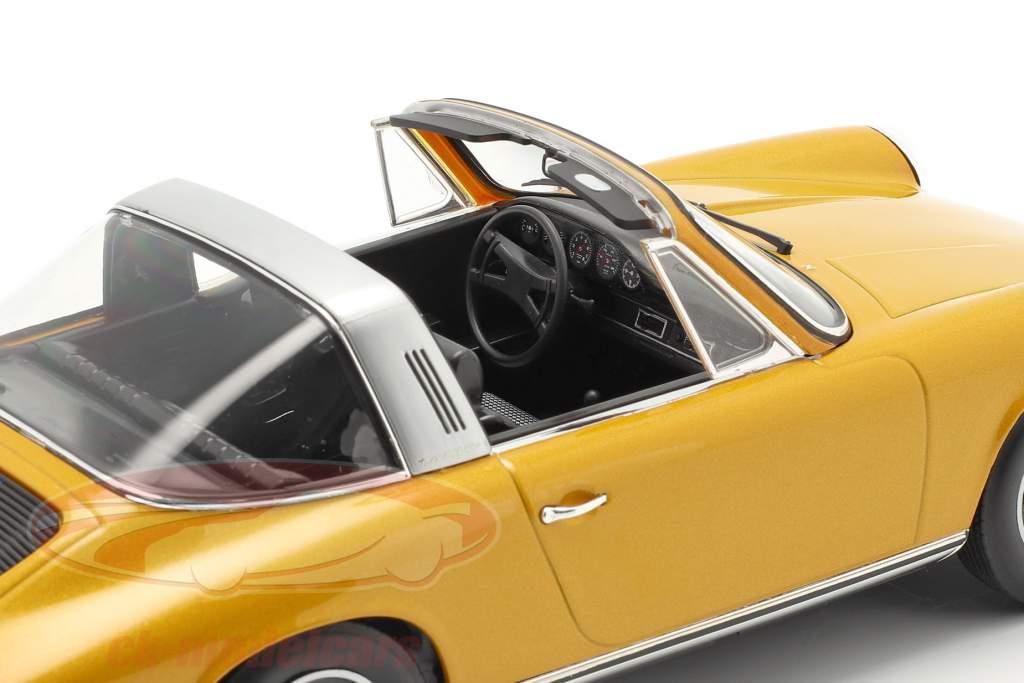 Porsche 911 S Targa Año de construcción 1973 oro metálico 1:18 Norev