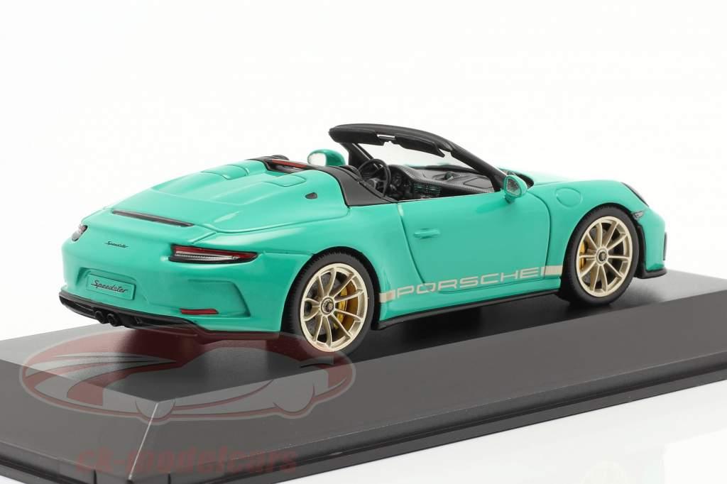 Porsche 911 (991 II) Speedster jadegrøn 1:43 Spark