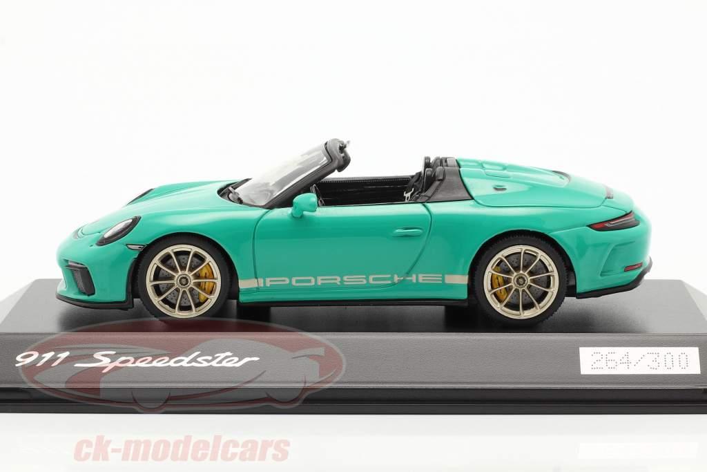 Porsche 911 (991 II) Speedster jade green 1:43 Spark