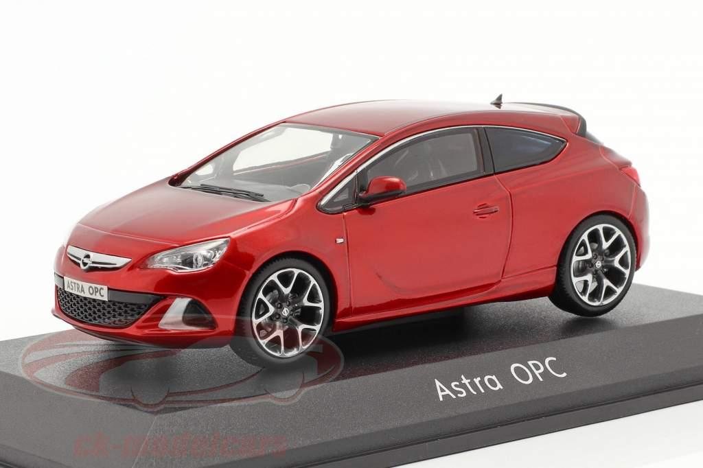 Opel Astra J OPC Ano de construção 2012 vermelho metálico 1:43 Motorart