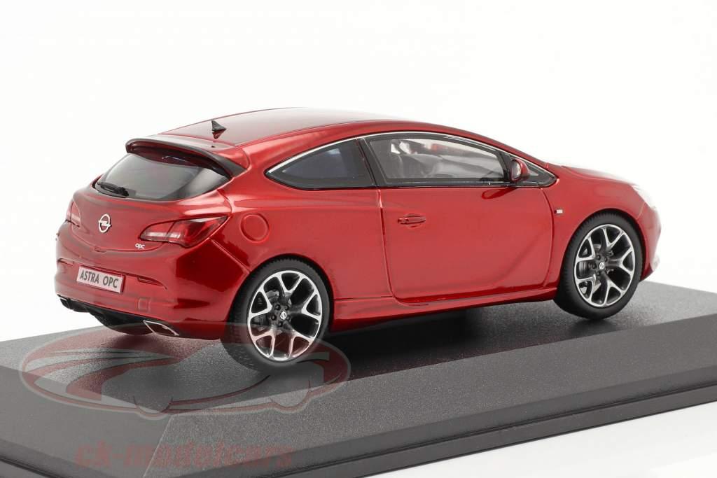 Opel Astra J OPC Anno di costruzione 2012 rosso metallico 1:43 Motorart