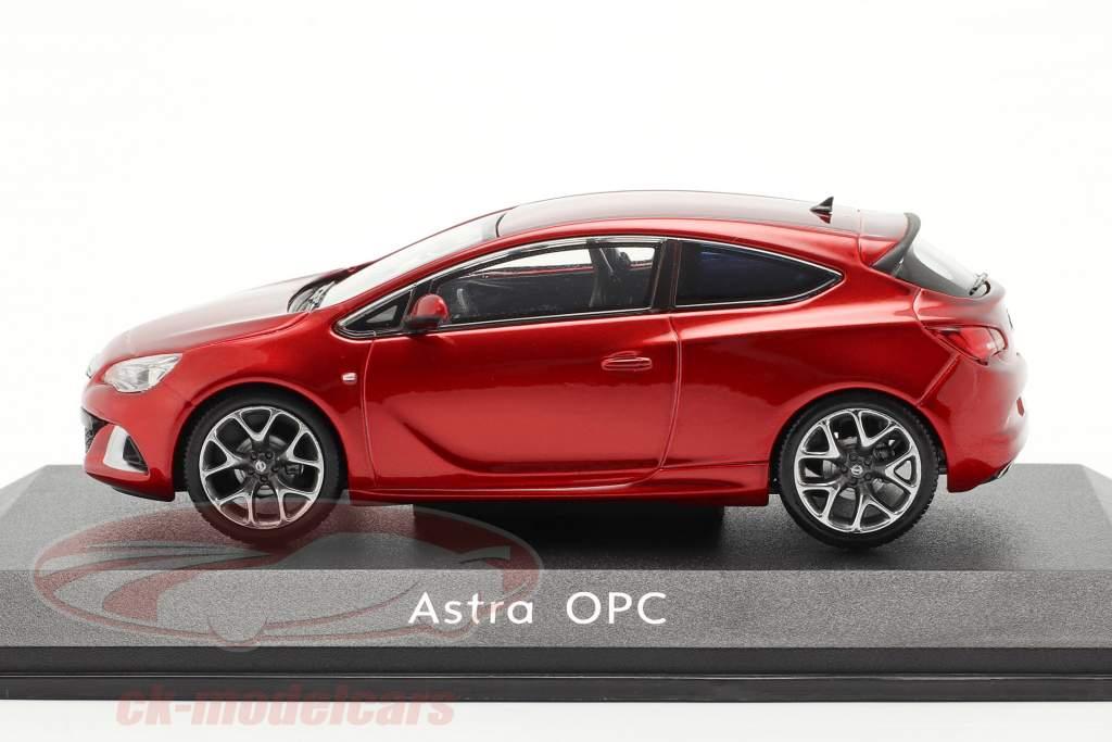 Opel Astra J OPC Année de construction 2012 rouge métallique 1:43 Motorart