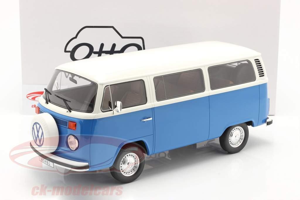Volkswagen VW Bus genere 2 Anno di costruzione 1978 blu / bianca 1:12 OttOmobile