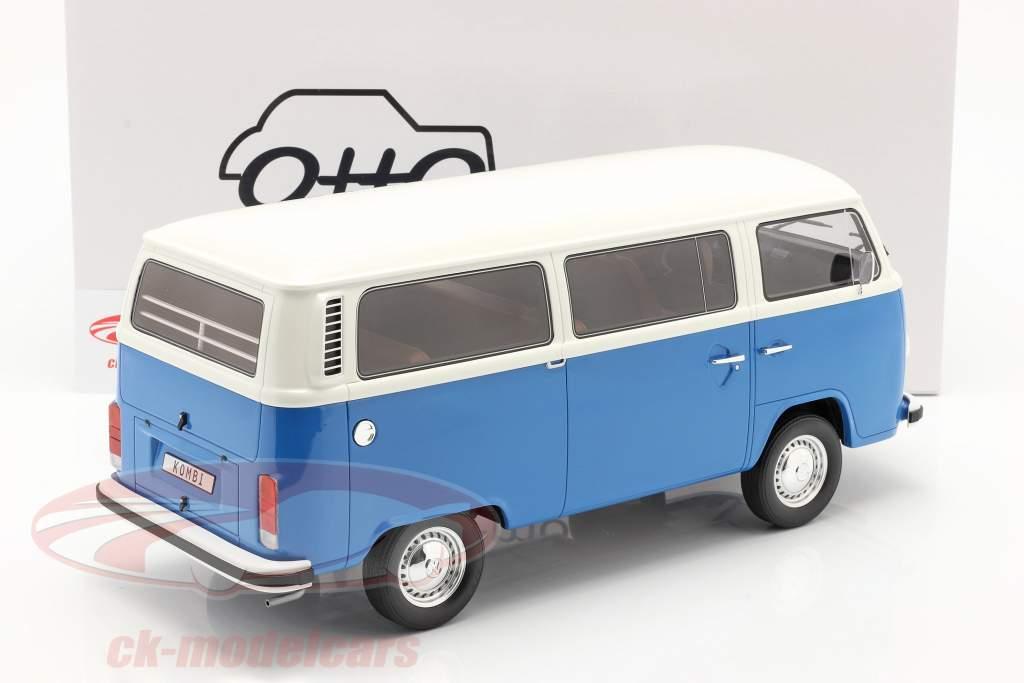Volkswagen VW Bus Type 2 Byggeår 1978 blå / hvid 1:12 OttOmobile