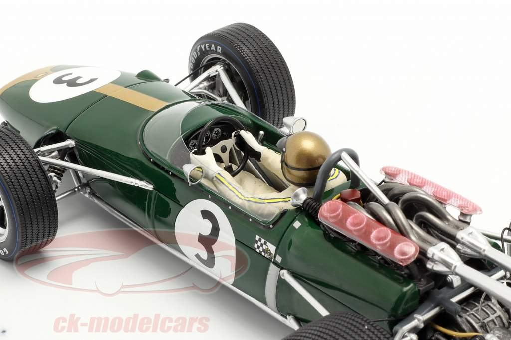 Jack Brabham Brabham BT24 #3 vencedora francês GP Fórmula 1 1967 1:18 Spark