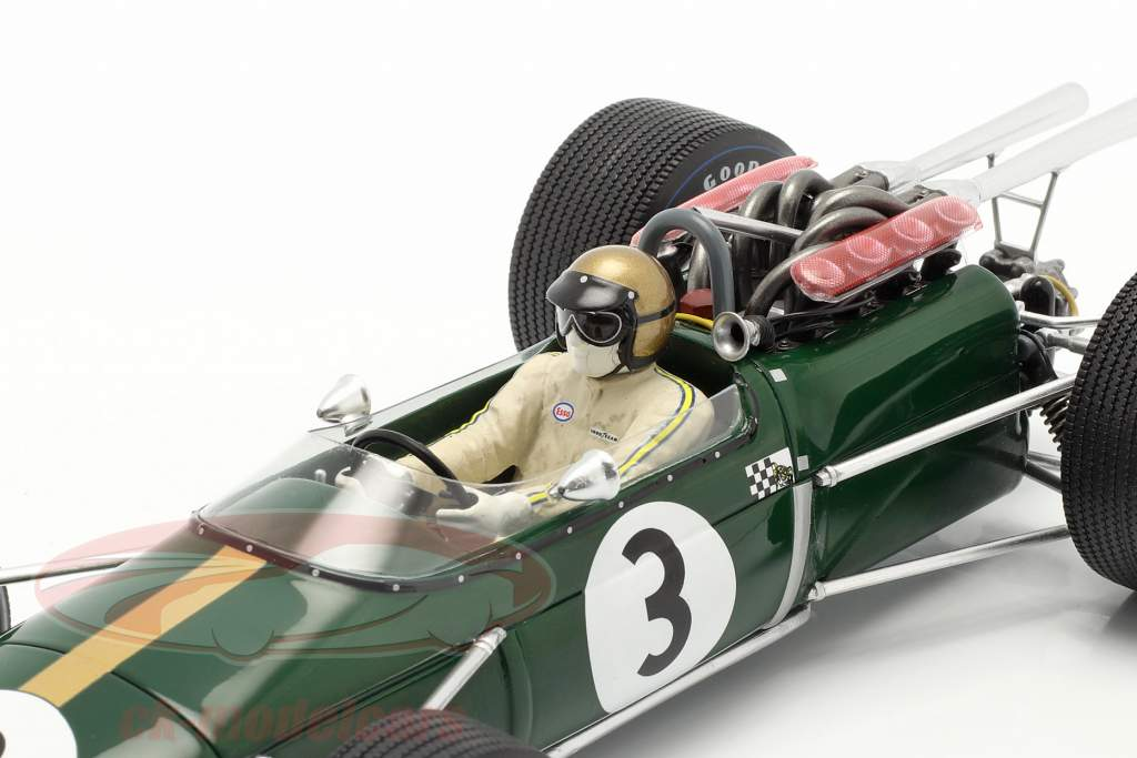 Jack Brabham Brabham BT24 #3 Winner French GP formula 1 1967 1:18 Spark