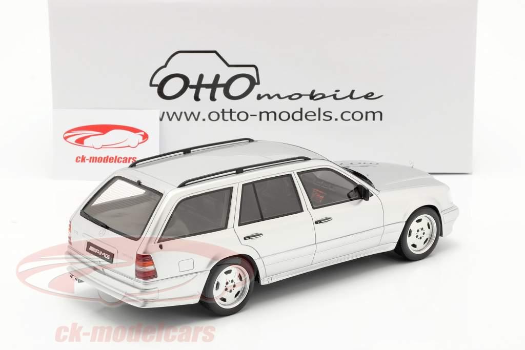 Mercedes-Benz AMG Clase E E36 (S124) 1995 brillante plata 1:18 OttOmobile