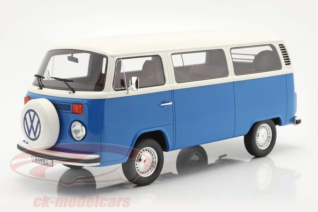 Volkswagen VW Bus Type 2 Baujahr 1978 blau / weiß 1:12 OttOmobile