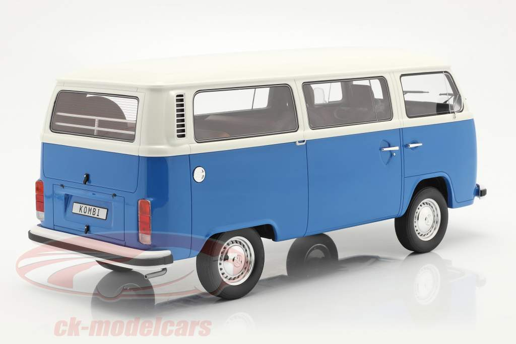 Volkswagen VW Bus Tipo 2 Ano de construção 1978 azul / Branco 1:12 OttOmobile