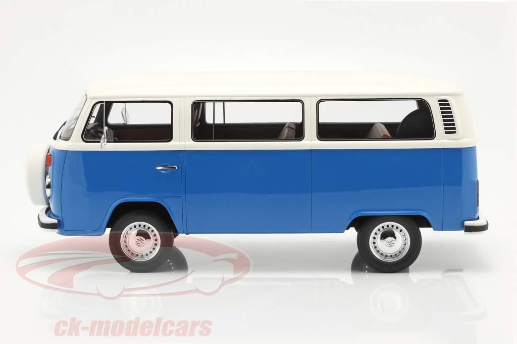 Volkswagen VW Bus Type 2 Bouwjaar 1978 blauw / Wit 1:12 OttOmobile