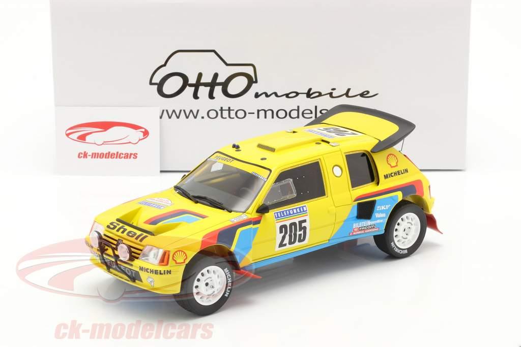 Peugeot 205 T16 #205 ganador Rallye Dakar 1987 Vatanen, Giroux 1:18 OttOmobile