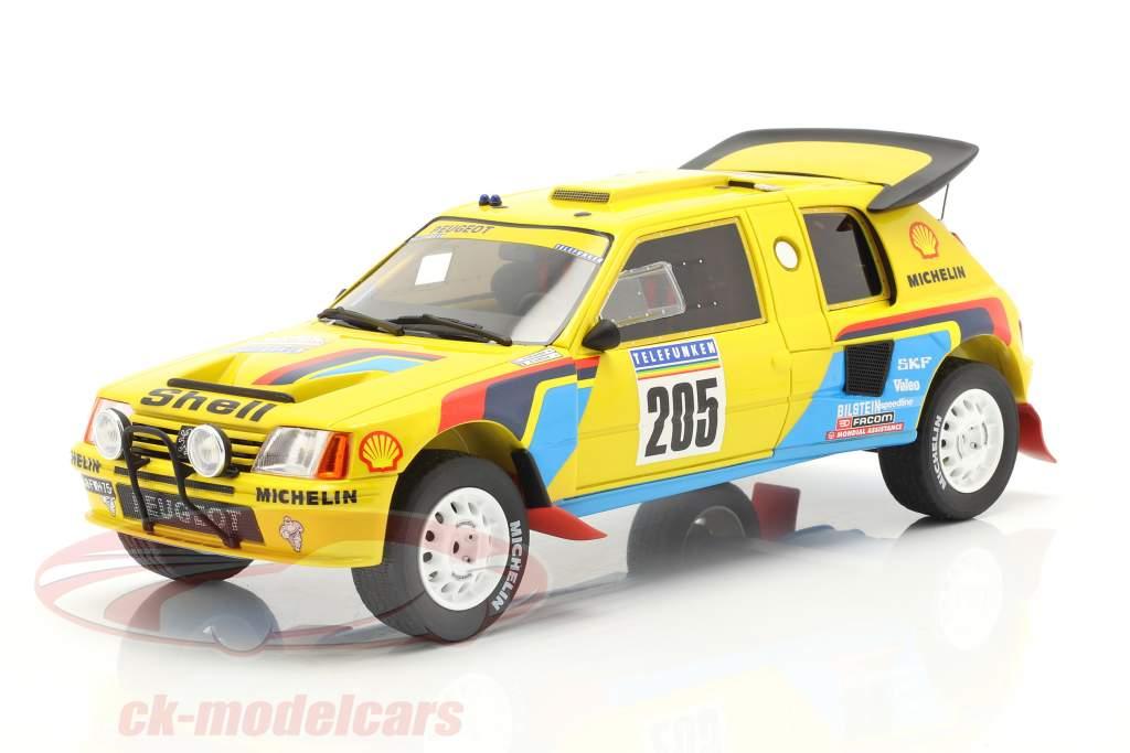 Peugeot 205 T16 #205 vinder Rallye Dakar 1987 Vatanen, Giroux 1:18 OttOmobile
