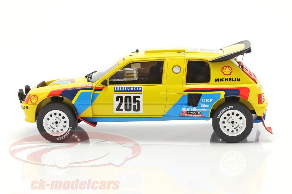 Peugeot 205 T16 #205 gagnant Rallye Dakar 1987 Vatanen, Giroux 1:18 OttOmobile
