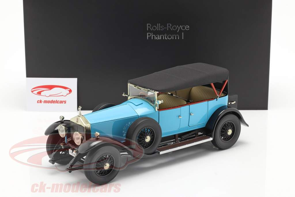 Rolls Royce Phantom I Convertible Baujahr 1926 hellblau 1:18 Kyosho
