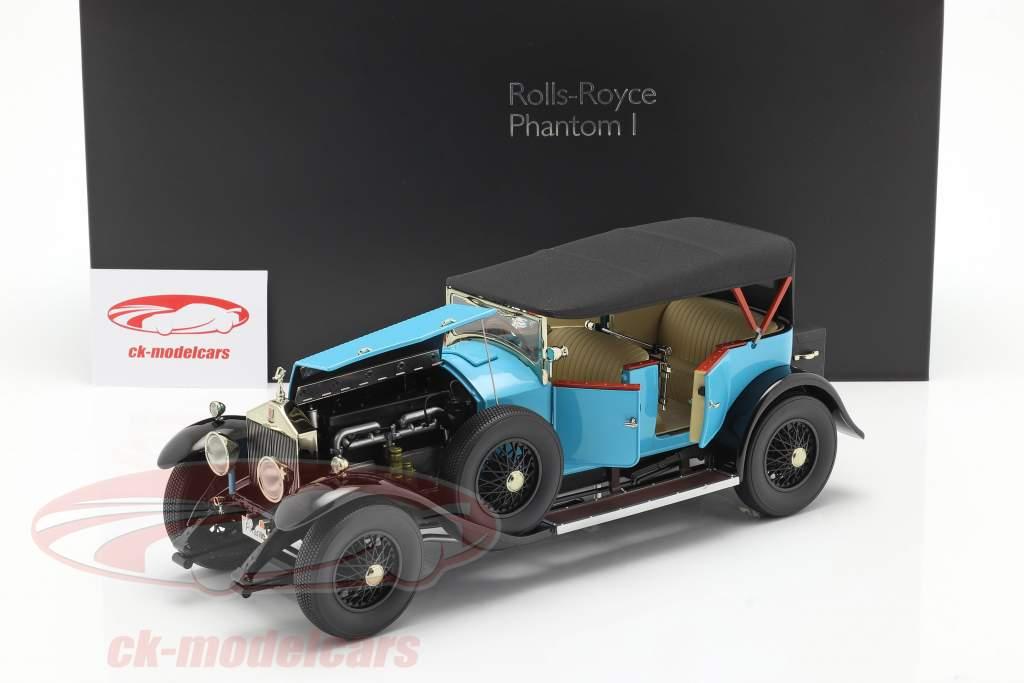 Rolls Royce Phantom I Convertibile Anno di costruzione 1926 luce blu 1:18 Kyosho