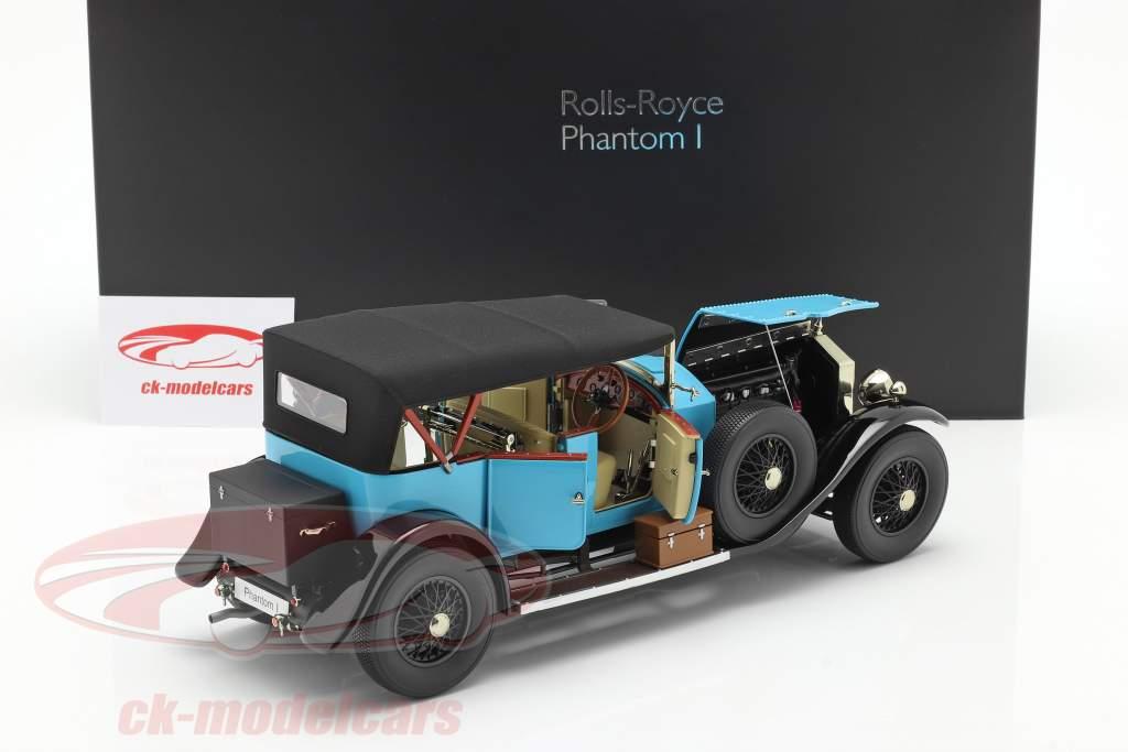 Rolls Royce Phantom I Convertible year 1926 hellblau 1:18 Kyosho