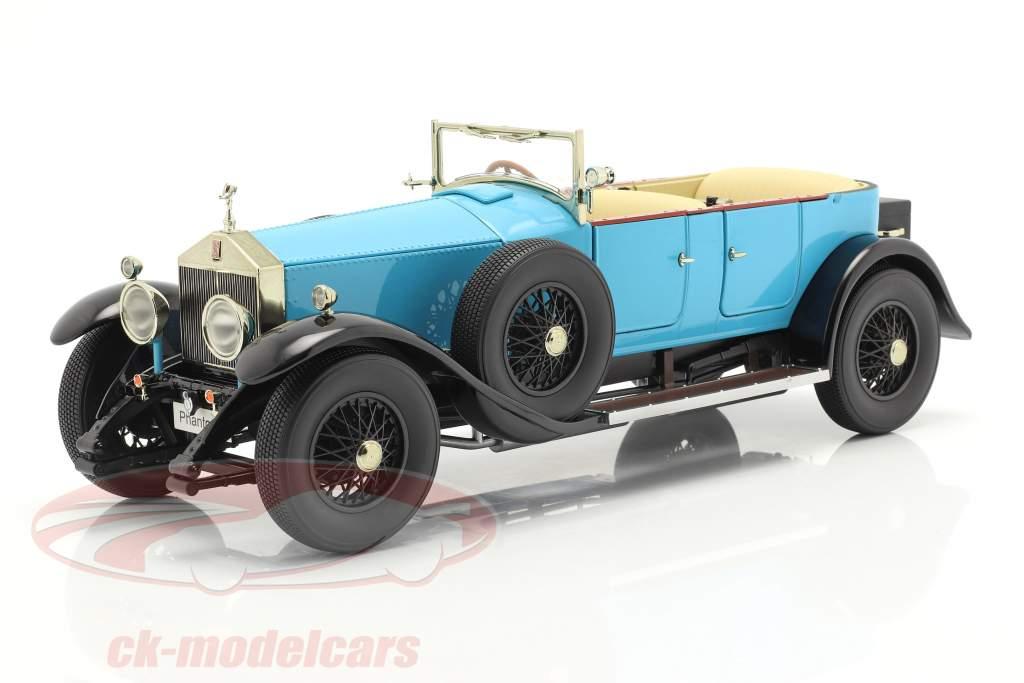 Rolls Royce Phantom I Converteerbaar Bouwjaar 1926 licht blauw 1:18 Kyosho