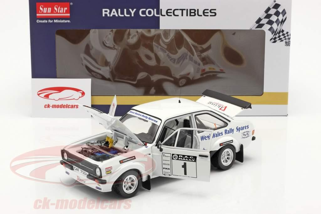 Ford Escort RS 1800 #1 winnaar Roger Albert Clark Rallye 2009 1:18 SunStar
