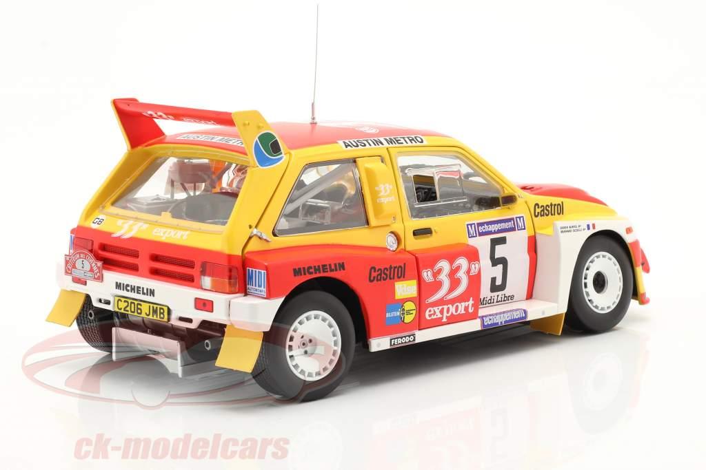 MG Metro 6R4 #5 Sieger Rallye Criterium de Cevennes 1986 1:18 SunStar
