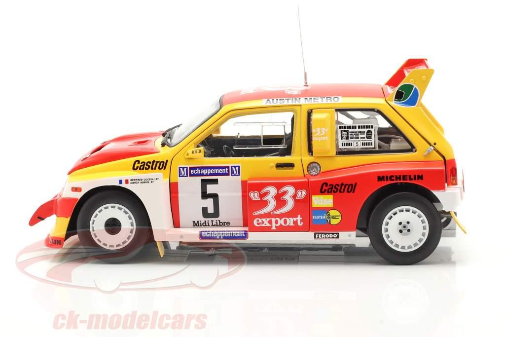 MG Metro 6R4 #5 vincitore Rallye Criterium de Cevennes 1986 1:18 SunStar