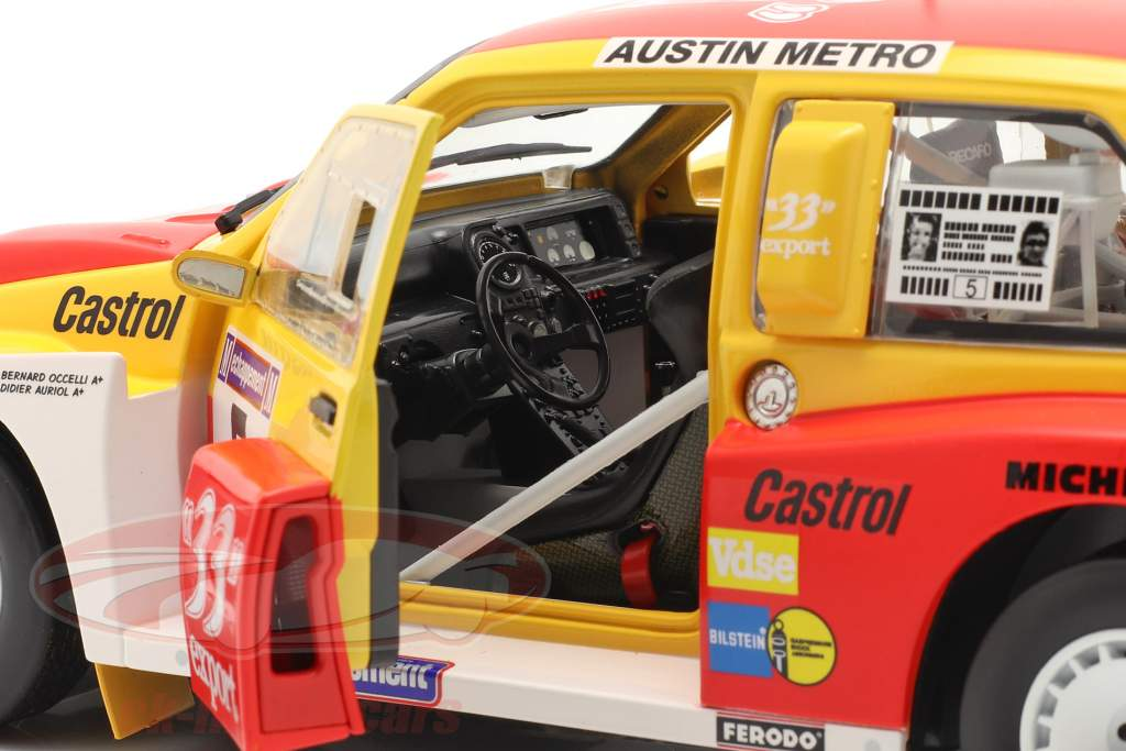 MG Metro 6R4 #5 ganador Rallye Criterium de Cevennes 1986 1:18 SunStar