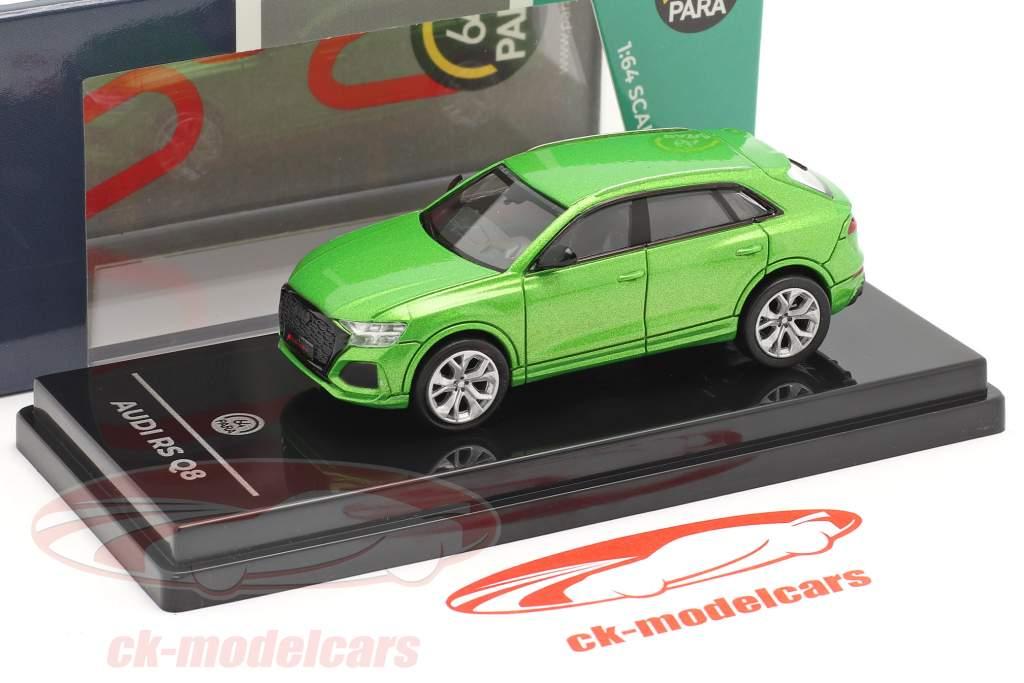 Audi RS Q8 Byggeår 2018 Java grøn metallisk 1:64 Paragon Models