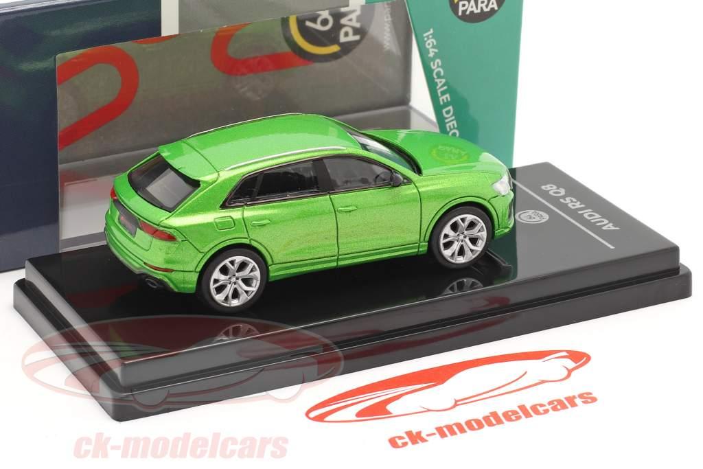 Audi RS Q8 Anno di costruzione 2018 Giava verde metallico 1:64 Paragon Models