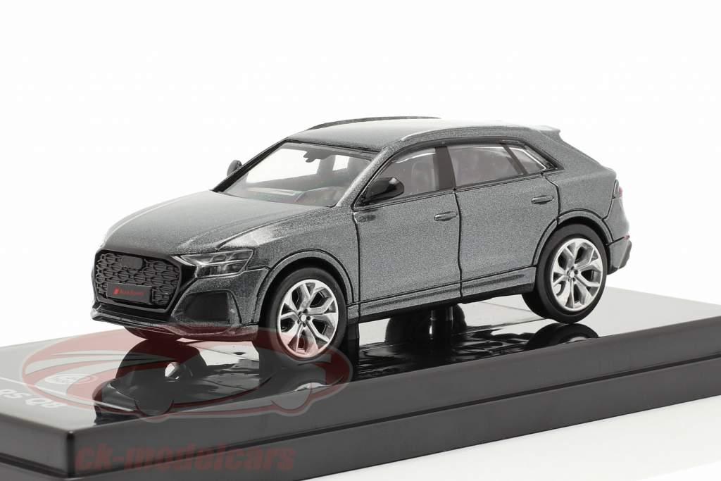 Audi RS Q8 Ano de construção 2018 daytona cinzento metálico 1:64 Paragon Models