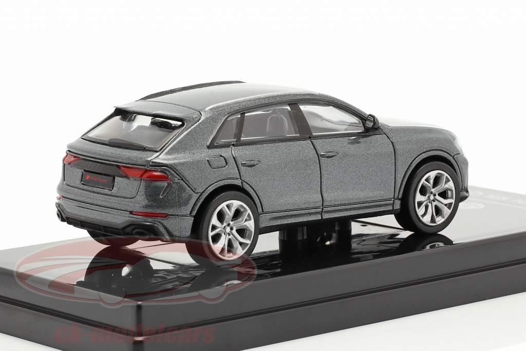 Audi RS Q8 Byggeår 2018 daytona Grå metallisk 1:64 Paragon Models