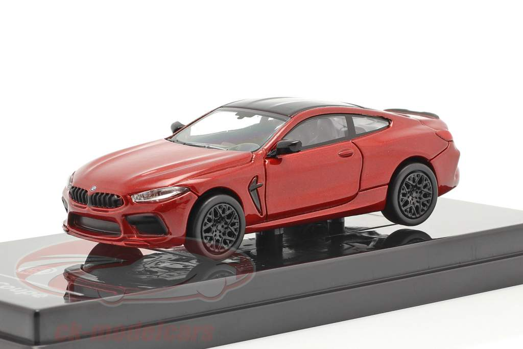BMW M8 Coupe Byggeår 2018 motegi rød 1:64 Paragon Models