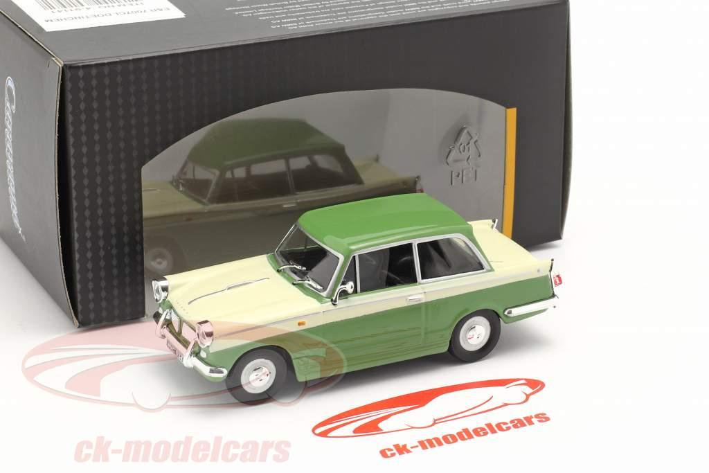 Triumph Herald 1200 verde / creme Branco 1:43 Cararama