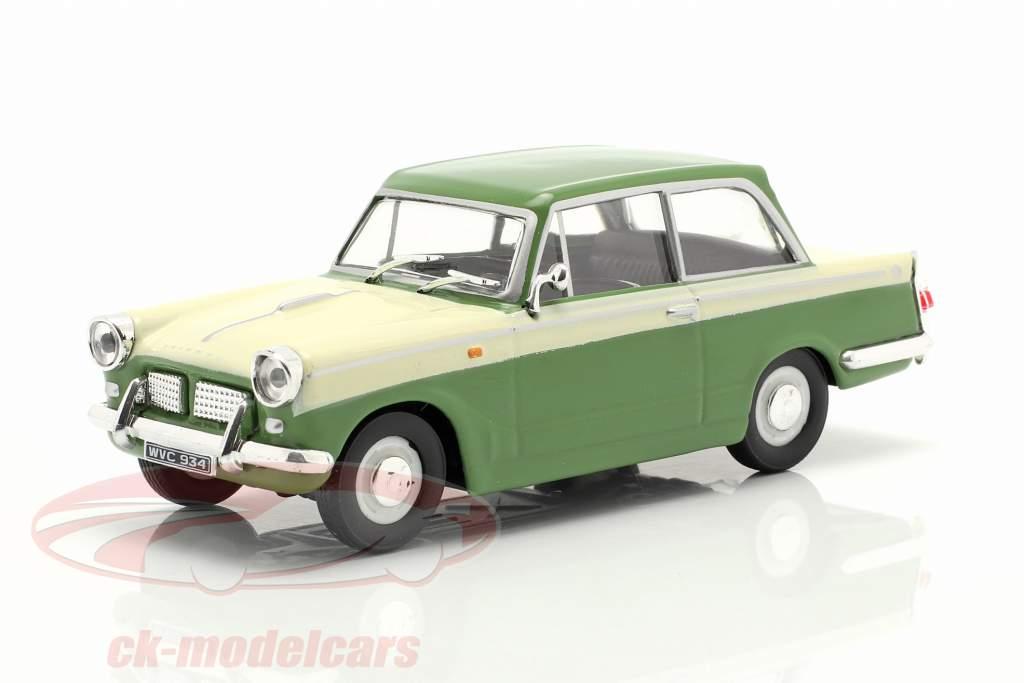 Triumph Herald 1200 verde / crema bianca 1:43 Cararama