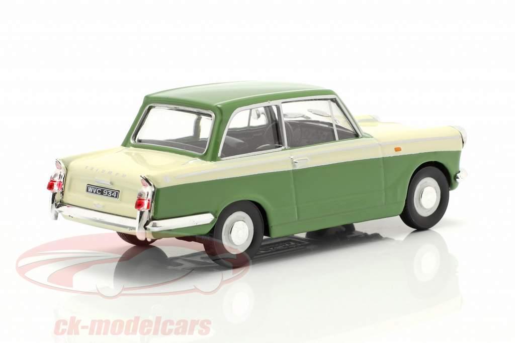 Triumph Herald 1200 verde / crema Blanco 1:43 Cararama