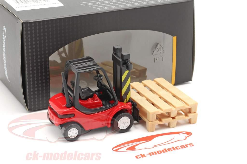 Forklift Truck red / black 1:43 Cararama