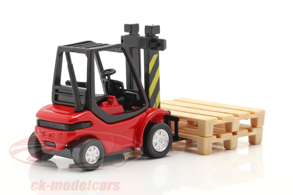 Heftruck Vrachtauto rood / zwart 1:43 Cararama