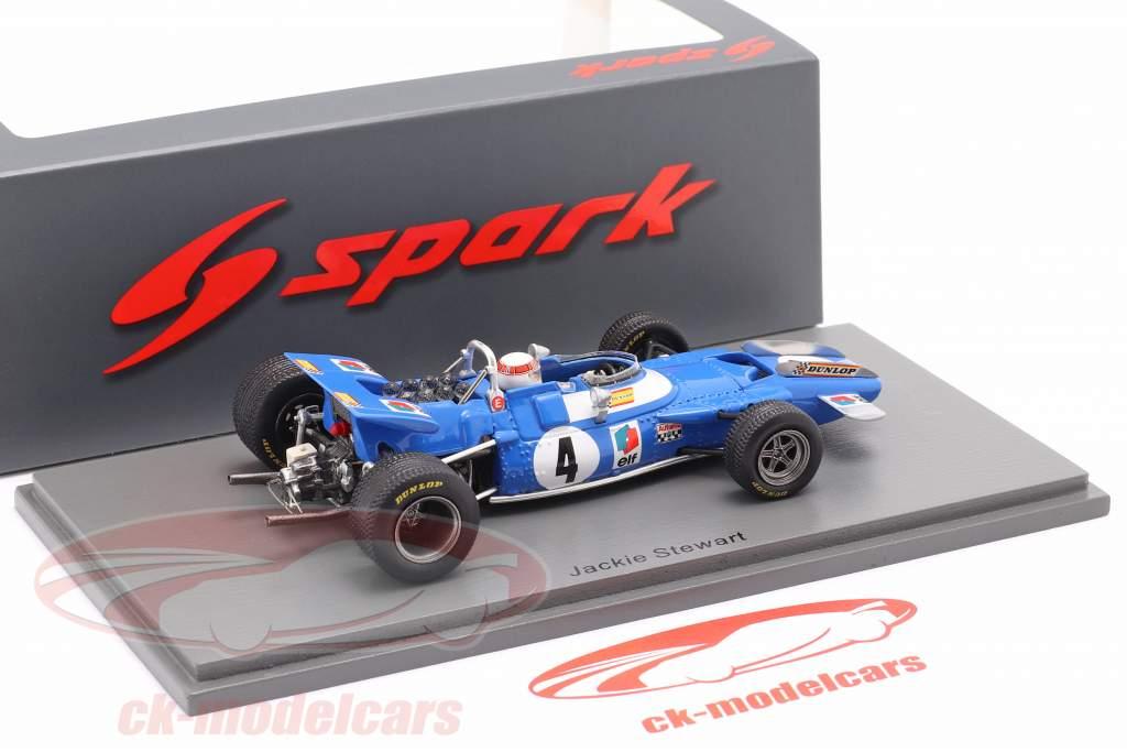 J. Stewart Matra MS80 #4 Vincitore olandese GP formula 1 Campione del mondo 1969 1:43 Spark