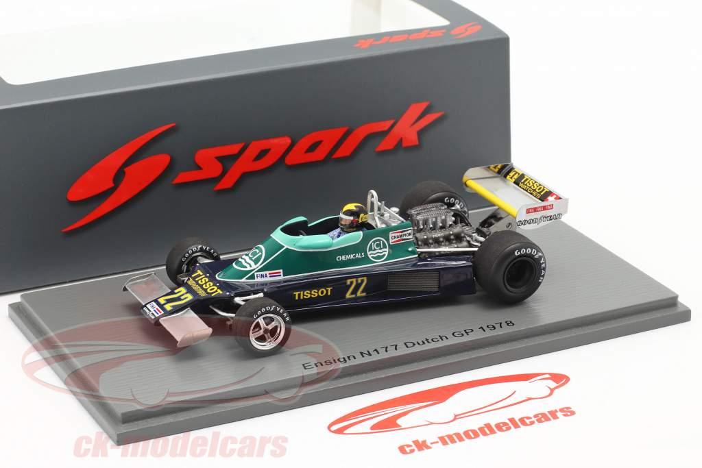 Derek Daly Ensign N177 #22 Dutch GP formula 1 1978 1:43 Spark