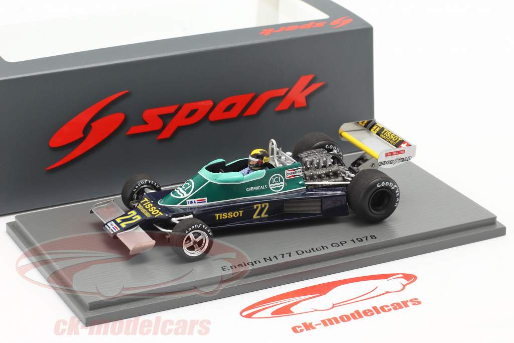 Derek Daly Ensign N177 #22 holandés GP fórmula 1 1978 1:43 Spark