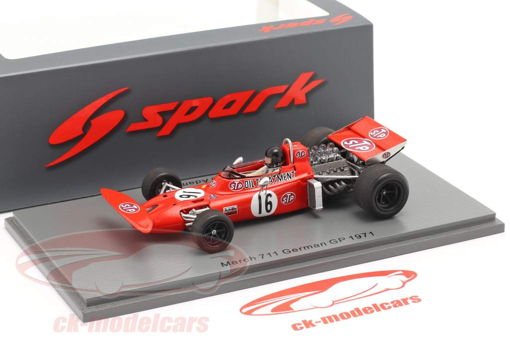 Andrea de Adamich March 711 #16 allemand GP formule 1 1971 1:43 Spark