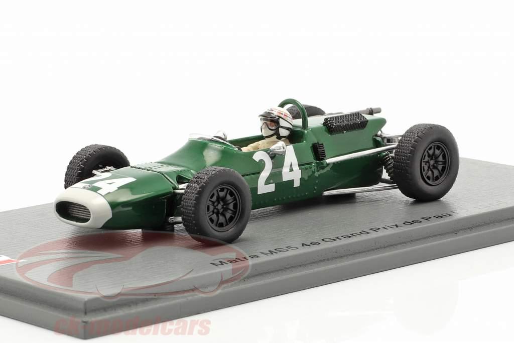 Jackie Stewart Matra MS5 #24 Cuarto GP de Pau fórmula 2 1966 1:43 Spark
