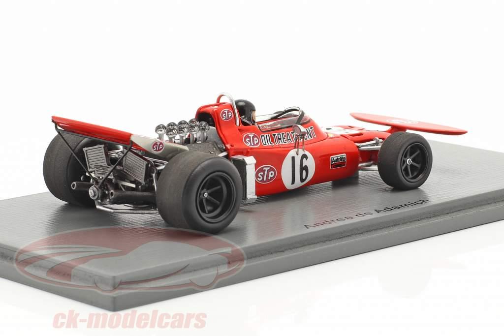 Andrea de Adamich March 711 #16 Duitse GP formule 1 1971 1:43 Spark