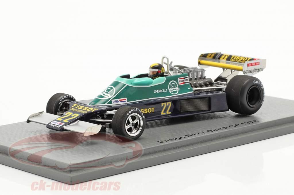 Derek Daly Ensign N177 #22 hollandsk GP formel 1 1978 1:43 Spark